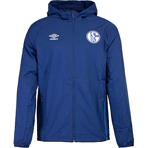 UMBRO FC Schalke 04 Regenjacke Jacket (L, Navy)