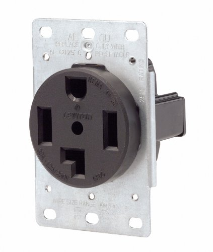 Leviton 071-00278-000 4 Wire 30 Amp 250 Volt Flush Mount Dryer Receptacle