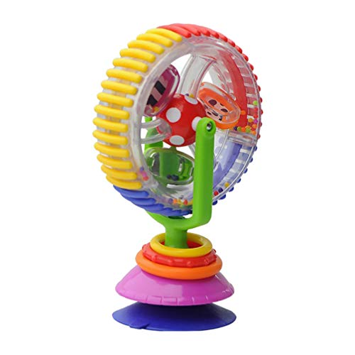Toyvian Spinner Activity Toy with Suction Cup Baby High Chair Toy Ferris Wheel Interactive Toy STEM Learning Toy for Baby Early Development Feeding Plaything