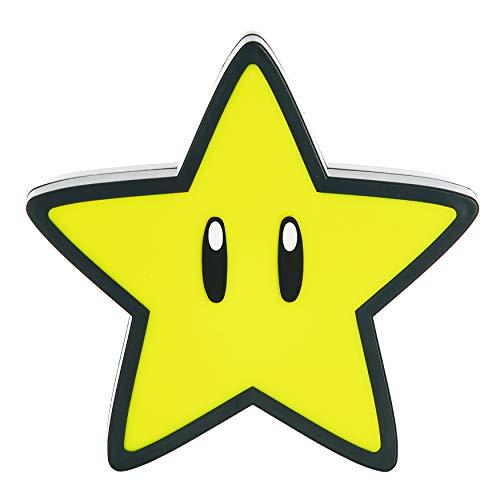 Paladone Star Licht mit Sound BDP Offizielles Lizenzprodukt Super Mario Nintendo Nachtlicht Gamer, 12 cm hoch, 3 x AAA-Batterien, gelb, 12cm Tall
