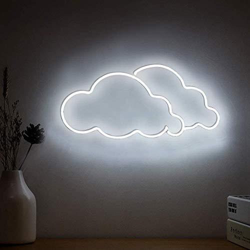 Nube Blanca Letrero de Neón LED Luz de Pared Decorativa para El Hogar, Dormitorio, Habitación, Decoración, Bar de Cerveza, Oficina, Fiesta, Decoración