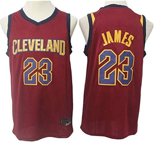 Wo nice Uniformes De Baloncesto para Hombres, Cleveland Cavaliers # 23 Lebron James NBA Secado Rápido Camiseta Sin Mangas Camiseta Deportiva Suelta Top Baloncesto Jersey,Rojo,S(165~170CM)