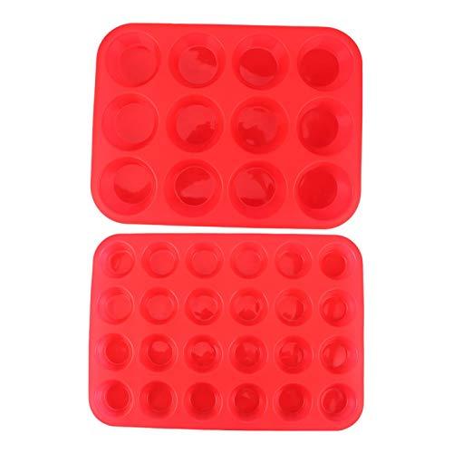 Molde de pastel de silicona DIY, molde de silicona antiadherente DIY para muffin, molde para cupcakes de chocolate, suministros para hornear
