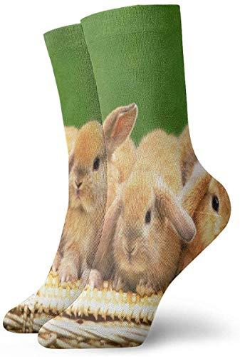 xinfub Calcetines deportivos Cute Baby Rabbit Calcetines atléticos Especial Cojín anti olor bacteriano Bota corta Medias cómodas11789