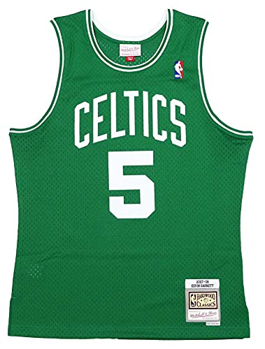 Mitchell & Ness Men's Boston Celtics Kevin Garnett 2007-08 Hardwood Classics Green Swingman Jersey XXXL