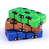 RUIGIN Geschwindigkeits-Würfel-Set 3, Folding Cube unendliche Geschwindigkeit Taschen Cube Denkaufgabe Intelligenz-Spiel-Spielzeug für Kinder