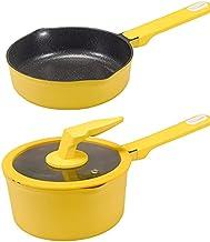 Baby Food Supplement Pots, Multifunctional Non Stick Milk Pot Medical Stone Saucepans Frying Cooking Pan, Wear-resistant R...