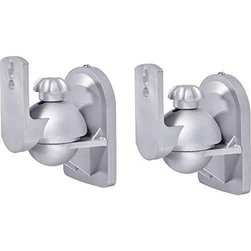 SpeaKa Professional Lautsprecher-Wandhalterung Neigbar+Schwenkbar Wandabstand (max.): 6.4 cm Silber 1 Paar