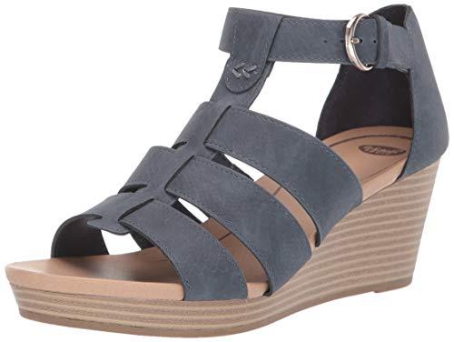 Dr. Scholl's Shoes Women's Esque Wedge Sandal, oxide snake Print, 9 M US