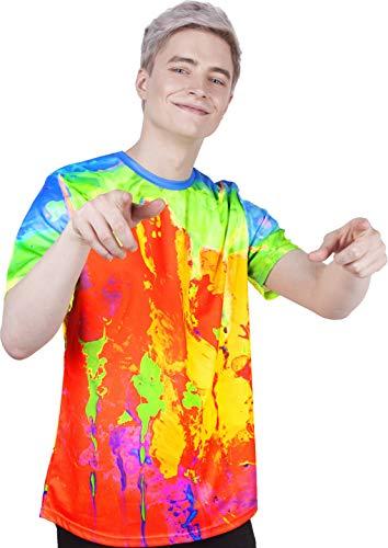 Handmade Art Printed Tank Top Splash-Ink Color Soul Flowery Shirt for Adult Teen