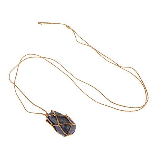 freneci Collar de Cadenas de Bricolaje de Fluorita Verde de Cristal Natural para La Joyería de Las Mujeres - Azul, 3x2x2cm