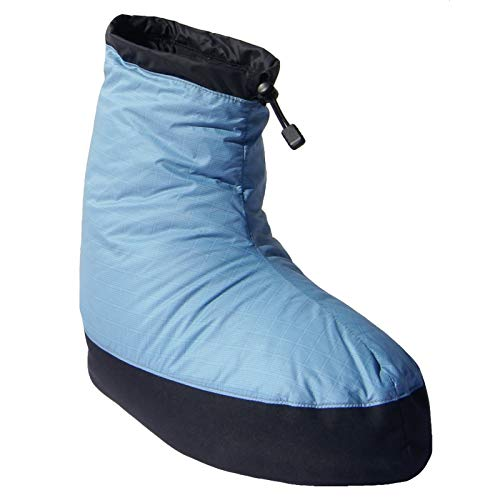 Western Mountaineering Standard Down Bootie - Men's Sky Blue, M