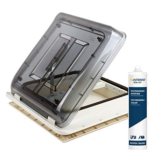 Fiamma Dachfenster Vent 40x40 cm Klar + Dekalin Dichmittel + Schrauben für Wohnwagen Oder Wohnmobil