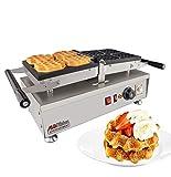 ALDKitchen Swing type BELIGIUM Waffle maker Nonstick Electric Egg Biscuit Roll Maker Machine Bake Machine (4 Waffles)