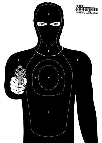 Große Zielscheiben *Criminal Target* / 50x70 cm/Papier 120g/m² (20 Stück)
