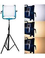 Yidoblo AI-2000C Panel de luz LED RGB de 200 W con 12 Efectos de iluminación como Light Control de Alto Brillo Multi Control para Disparo de película con trípode