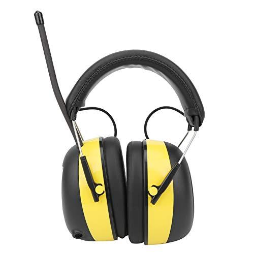 Orejera electrónica con reducción de ruido, con radio estéreo digital AM/FM, 30 dB NRR, protector auditivo para cortar el césped, construcción, talleres