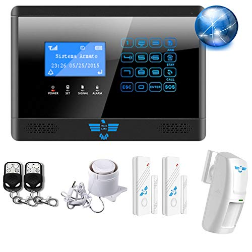 """ITALIAN ALARM""""CONNECTION"""" WIFI + GSM mod. 2021, KIT Antifurto Casa Wireless Senza Fili, Controllo remoto da APP Android/IOS""""S-home"""" e""""Sentry Smart"""", sirena Inclusa. CONFIGURATO + Video Tutorial"""