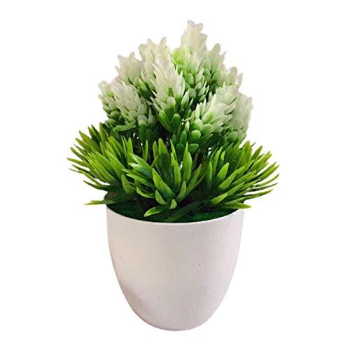 Künstliche Pflanzen zur Dekoration, künstliche Pflanze, Podocarpus-Kiefer, kleine Bonsai-Blumen, Gartenornamente