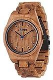 LAiMER orologio in legno di teak - CONSTANTIN - orologio da polso quarzo...