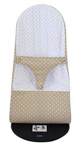 Housse pour hamac BabyBjörn Balance Soft réversible (remplace les housses originales) étoiles camel