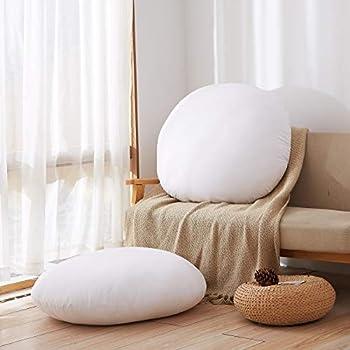 Acanva Decorative Square Throw Pillow Inserts Hypoallergenic Form Stuffer Cushion Sham Filler 32  Diameter White