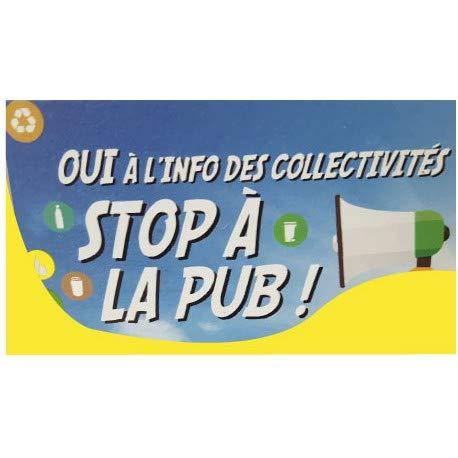 Zelfklevende sticker Stop Pub 2 brievenbussen, zelfklevend 4 cm