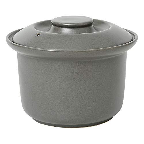 Jamie Oliver - Reiskocher - Keramik lasiert - grau - Ø 20 cm - Höhe 13 cm