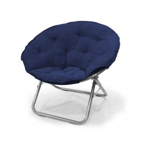 Large Polysuede Moon Chair - Dark Blue