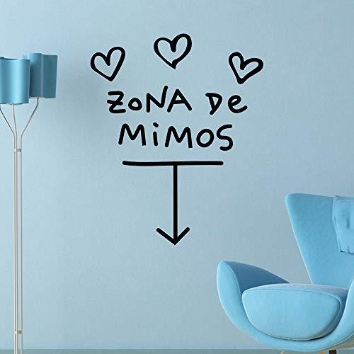 Pegatina Zona de Mimos de ideal diseño para paredes cristal .habitaciones niños salas lectura cabecero cuna y cama, caravanas aticos consultas infantiles de 60 x 50 cm NOVEDAD 2018 de CHIPYHOME