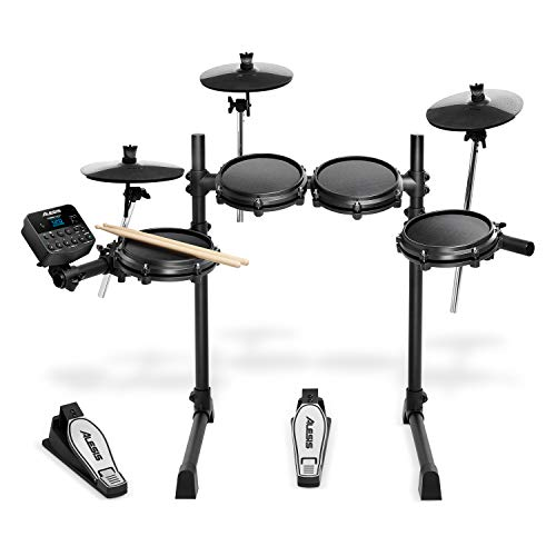 Alesis Turbo Mesh Kit - E Schlagzeug Elektronisch / 7-teiliges E Drum Set mit Mesh-Heads, Drumsticks, Drum Key, über 100 Sounds und 30 Play-Along-Tracks