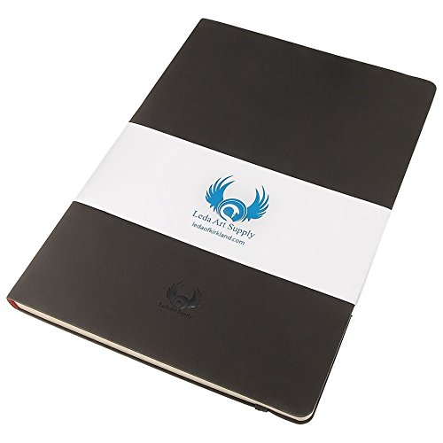 Leda Art Supply - A5 Cuaderno de dibujo de tamaño mediano - 160 páginas de papel (80 hojas) que no se rasga y evita que los colores se corran - 21 x 14 cm
