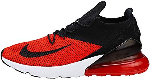 Nike Herren Air Max 270 Flyknit Laufschuhe, Mehrfarbig (Chile Red/Black/Challenge Red/White 601), 45.5 EU