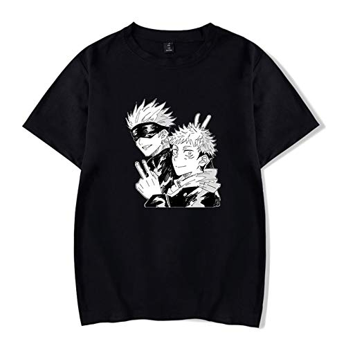 EDMKO Hombre Jujutsu Kaisen Camiseta Impresión Digital 3D Yuji Itadori Unisex Manga Corta Tops De Blusas Camisas Gojo Satoru Cosplay T-Shirt,XXXXXX~Large