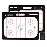 LEAP Coach Board Ice Hockey Tactical Coaching Two Sides with Full & Half Court Feature Premium Dry Erase Tool, Basketball Soccer Volleyball Baseball Football for Kids, Community, High School Team
