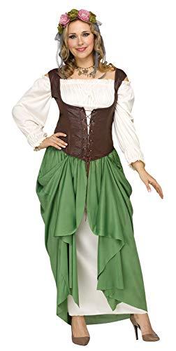 Fun World Women's Plus Size Wench Costume, Multi, XX-Large