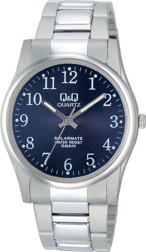 [シチズン Q&Q] 腕時計 アナログ ソーラー 防水 メタルバンド H970-205 メンズ ブルー