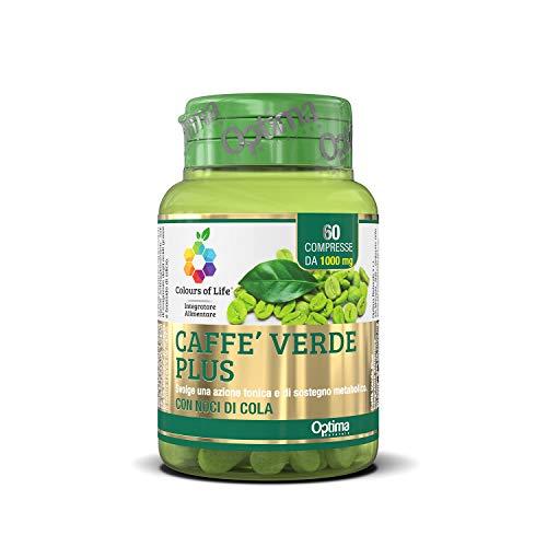 Colours of Life Caffè Verde Plus - Integratore di Caffè Verde - Azione Tonica e Sostegno Metabolico - Senza Glutine e Vegano, 60 Compresse