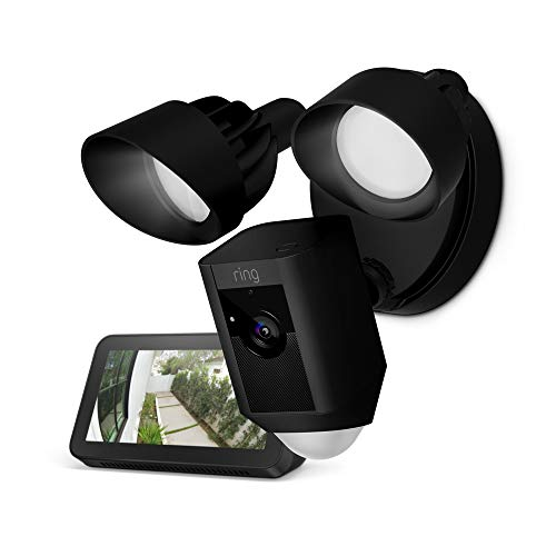 Ring Outdoor WiFi Motion-Sensor Camera Floodlight + Echo Show 5  $190 at Amazon