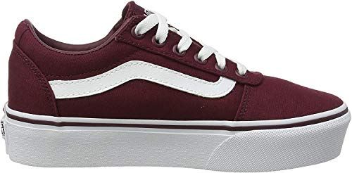 Vans Damen Ward Platform Sneaker, Rot ((Canvas) Port Royale Jx5), 36.5 EU