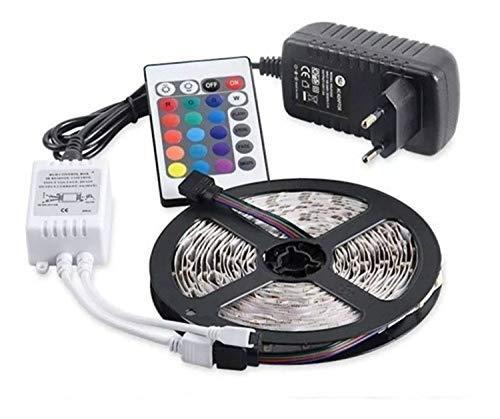 Fita Super Led 5mt Rgb 5050 Colorida Prova D' Agua + Controle + Fonte