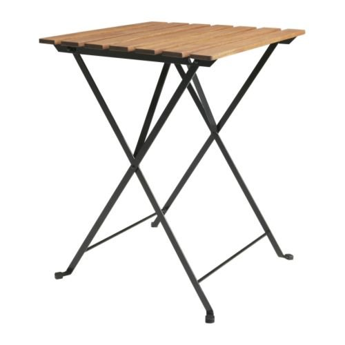 Ikea TARNO - Mesa Plegable, Acacia, Acero - 55x54 cm