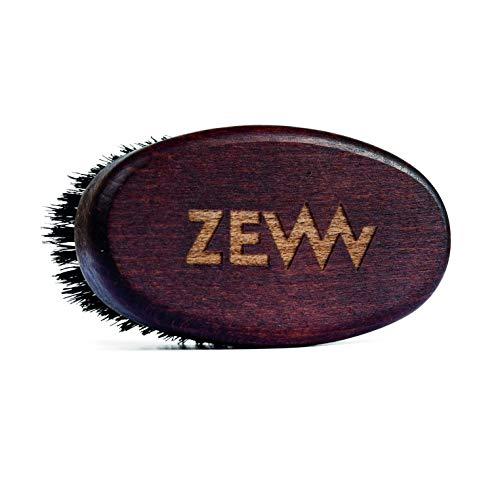 ZEW FOR MEN® kompakte Bartbürste aus FSC-zertifiziertem Buchenholz aus den Karpaten, echte Stachelschweinborsten, perfekter Reisebegleiter, handlich, unverwüstbar