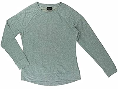 Women's Quilted Crew Neck Fleece Pull On Top