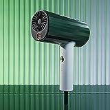 CSIQUSK Mascarilla de pelo secador de pelo anión 1800 W alta potencia modo de secador de pelo temperatura ciclo soplado secador múltiple iones negativos (color: verde, tamaño: 1)