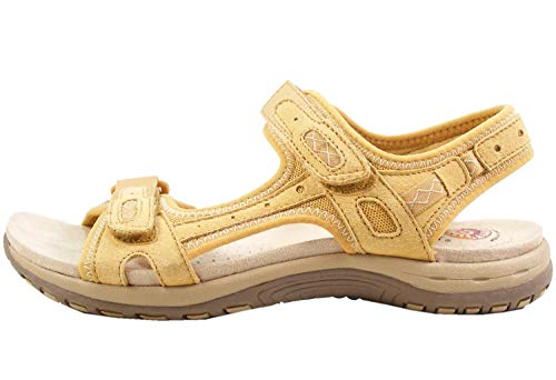 Earth Spirit 38013-20 Schuhe Damen Sandalen Trekking, Größe:38 EU, Farbe:Gelb