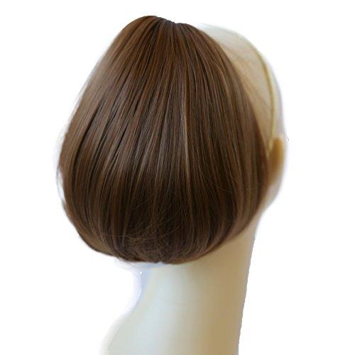 PRETTYSHOP BUN Up Do Hair Piece Hair Ribbon Ponytail Extensions Draw String Scrunchy Scrunchie Wavy Messy Light brown # 12 H407