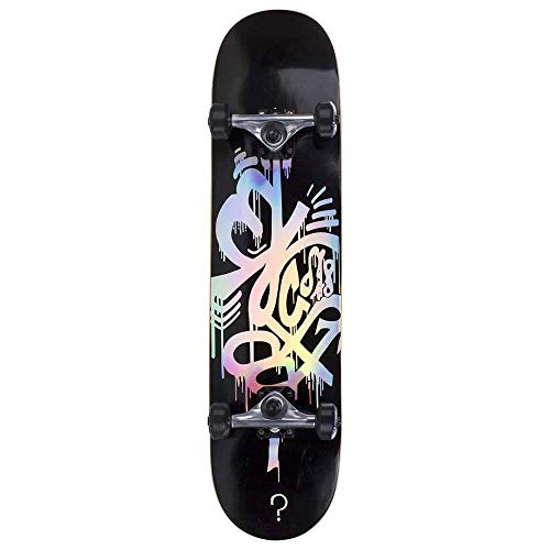 Enuff Black Hologram - 8 Inch Skateboard Complete (Default, Black)