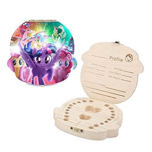 My Little Pony - Caja de dientes para niños (madera), diseño con texto 'Keep Childhood Memories Girl'