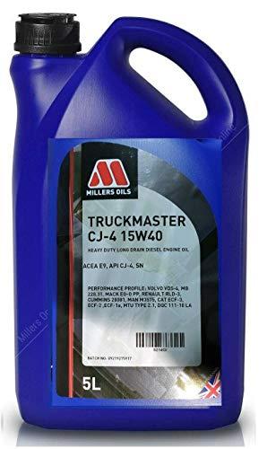 Millers Truckmaster 15w40 CJ-4 E9 SN motorolie, zware lange afvoer, liter